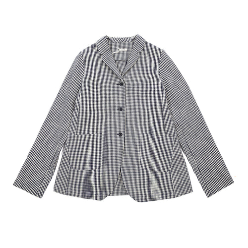 Apuntob Cotton Check Jacket in Butter/Blue