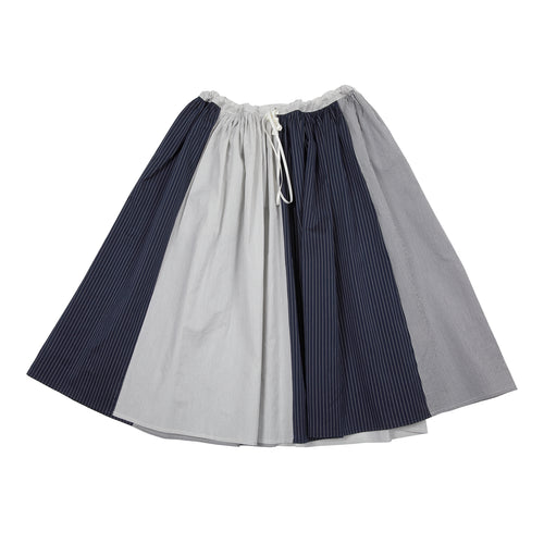 Apuntob Stripe Skirt Butter/Blue