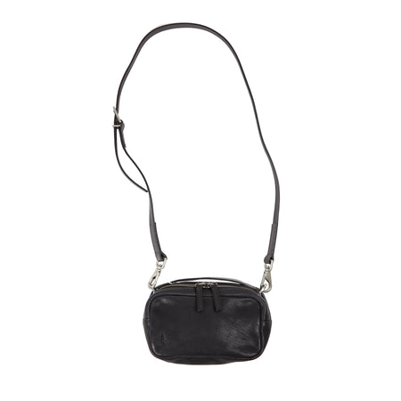 Ally Capellino Leila Small Calvert Leather Crossbody Bag in Black
