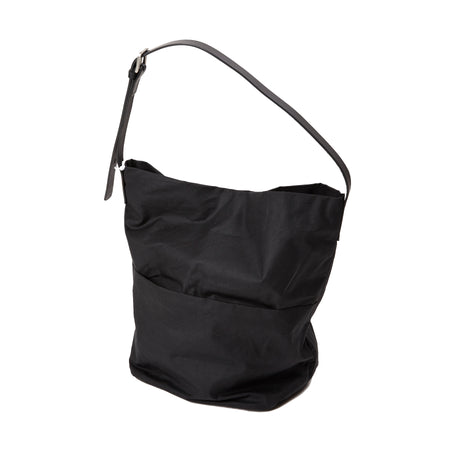 Ally Capellino Lloyd Waxed Cotton Bucket Bag in Black