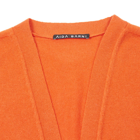 Aida Barni Women's Cashmere Cardigan in Orange