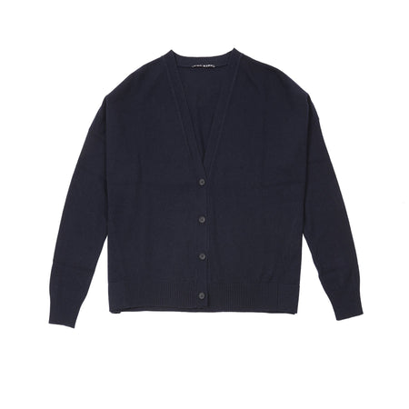Aida Barni Women's Cashmere Cardigan in Navy