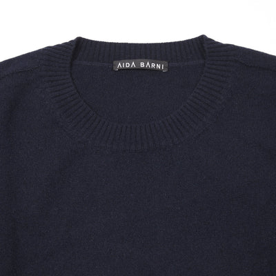 Aida Barni Women's Cashmere Jumper in Navy