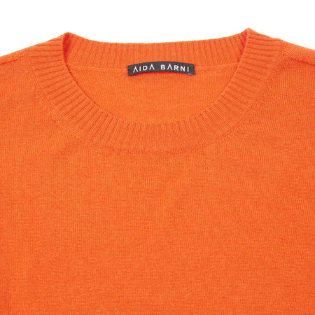 Aida Barni Women's Cashmere Jumper in Orange