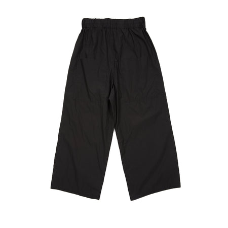 Album Di Famiglia Cotton Wide and Short Trousers in Black