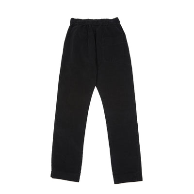 Album Di Famiglia Velvet New Basic Trousers in Black