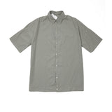 Album Di Famiglia Women's Cotton Collar Shirt in Khaki Grey
