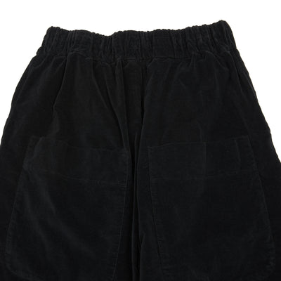 Album Di Famiglia Velvet Wide and Short Trousers in Black