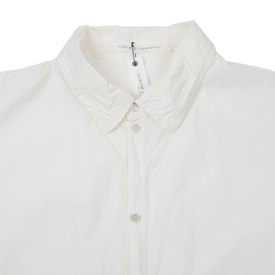 Album Di Famiglia Women's Cotton Collar Shirt in Milk