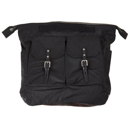 Ally Capellino Frank Large Waxed Cotton Rucksack in Black