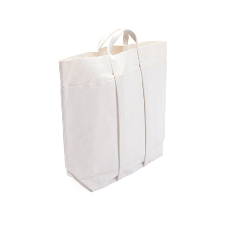 Amiacalva Canvas Large Tote Bag in White