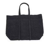 Amiacalva Canvas Medium Tote Bag in Black
