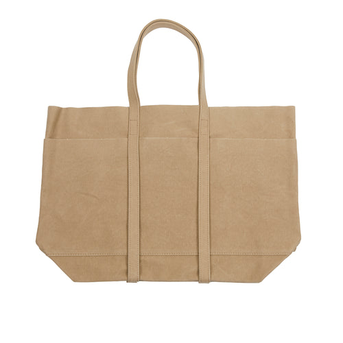 Amiacalva Canvas Medium Tote Bag in Taupe