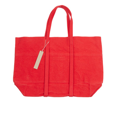 Amiacalva Canvas Medium Tote Bag in Red