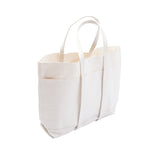 Amiacalva Canvas Medium Tote Bag in White