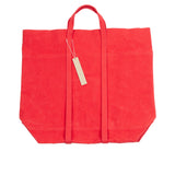 Amiacalva Canvas Large Tote Bag in Red