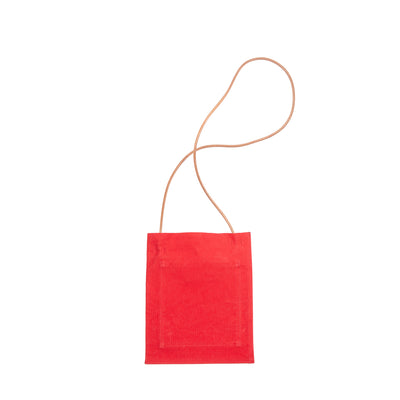 Canvas Cross-shoulder Pochette in red