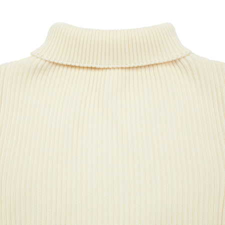 Andersen-Andersen Turtle Neck Sweater in Off White.