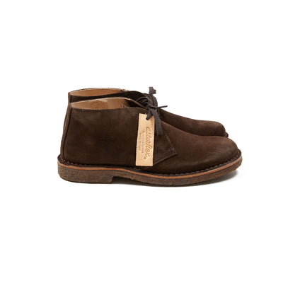Astorflex Greenflex Suede Desert Boots in Dark Chestnut