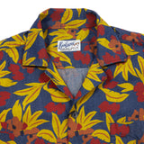 Bevilacqua Short Sleeve Shirt with Leaf Print