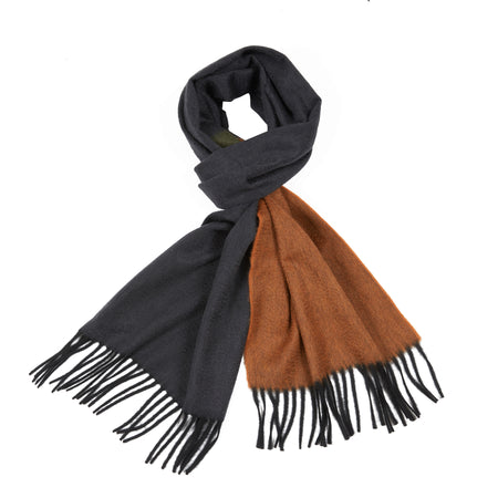 Begg & Co Arran Vanian Cashmere Scarf in Slate/Vicuna