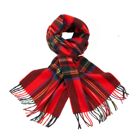 Begg & Co Jura Wilsford Scarf in Red/Black Plaid