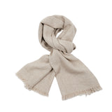 Begg & Co Kos Washed Cashmere Linen Scarf  Dark Natural