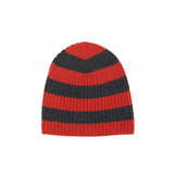 Begg & Co Alex Border Stripe Beanie Fire Brick / Charred