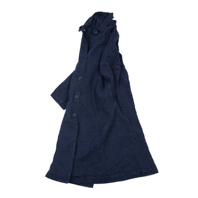 Casey Casey 14FM82 Verger Linen Coat in Indigo