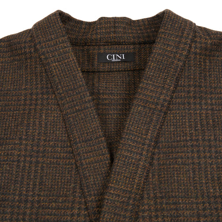 Cini Venezia C278MAU Mezzolitro Brown Tweed Cardigan