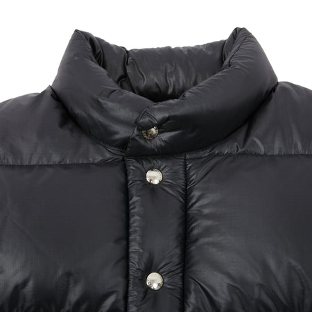Crescent Down Works Ripstop Italian Vest in Black/Black