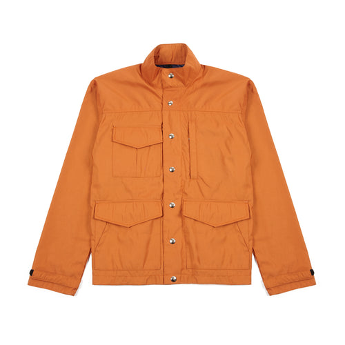 Crescent Down Works Michi Jacket in Rust/Navy