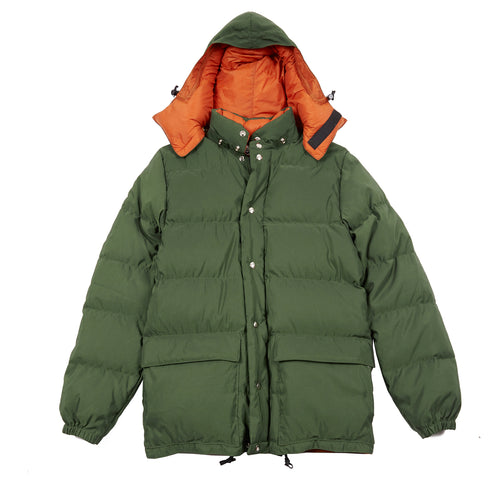 Crescent Down Works Classic Parka in Olive/Rust