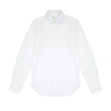 Finamore Tokyo Brushed Cotton Shirt in White