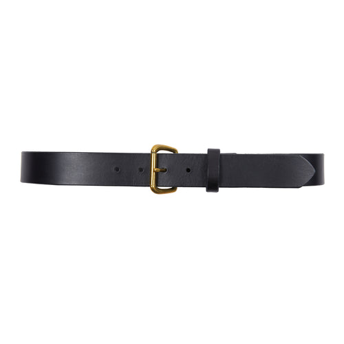 Thick Black Leather Belt by Gail Ferguson
