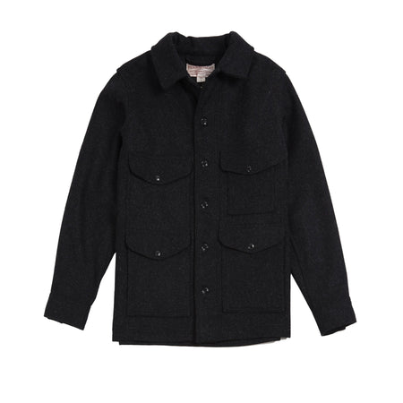 Filson Wool Mackinaw Cruiser Jacket in Charcoal