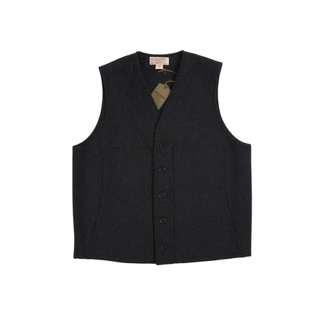 Filson Wool Mackinaw Vest in Charcoal