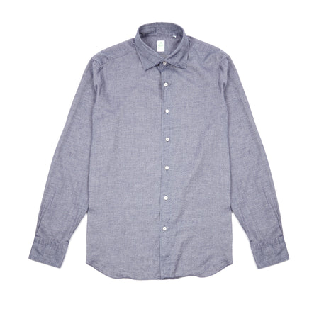 Finamore Leonardo Oxford Chambray Shirt in Blue