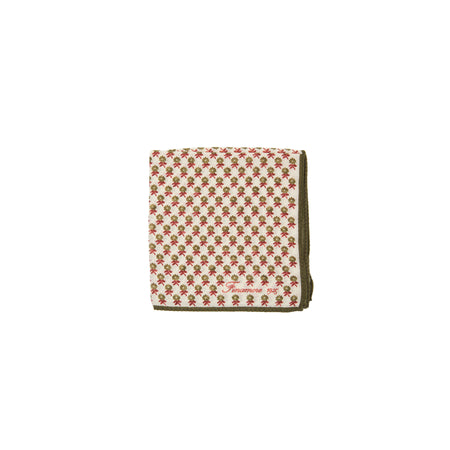 Finamore Wool Pocket Square in White