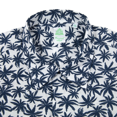Finamore Palm Trees Bart Camicia  Short Sleeve Shirt