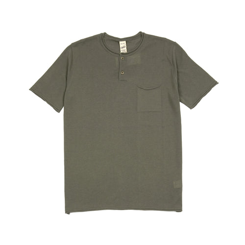 GRP Neo Henley Cotton T-shirt in Khaki