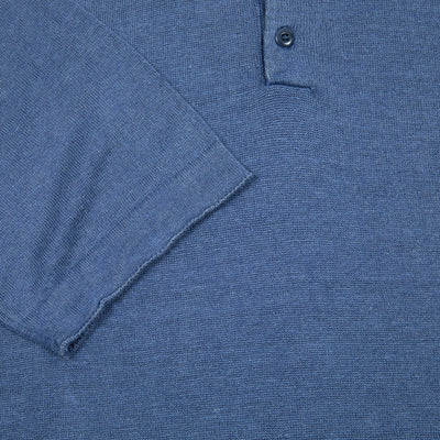 GRP Linen Polo Shirt in Indigo
