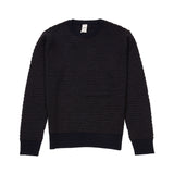 GRP Wool Bobble Crew Neck Jumper in Notte/Marrone