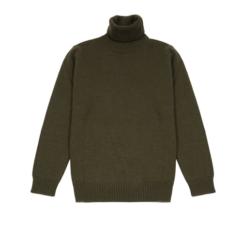 GRP Merino Wool Turtle Neck in Green