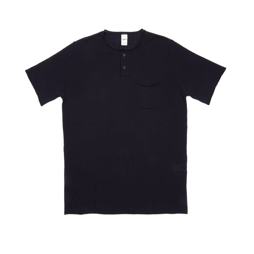GRP Neo Cotton Henley T-shirt in Navy Blue