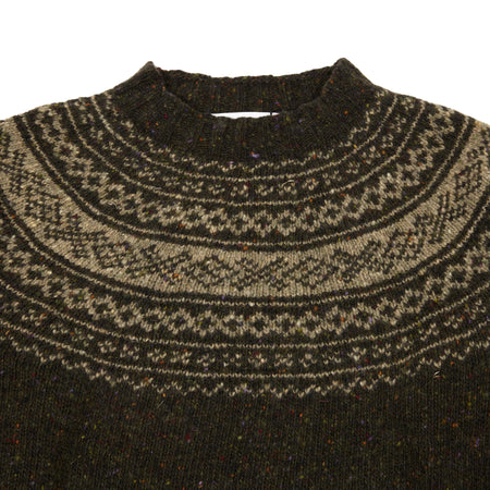 Harley Crew-Neck Pure Merino Wool Donegal Jumper in Mourne / Melvin