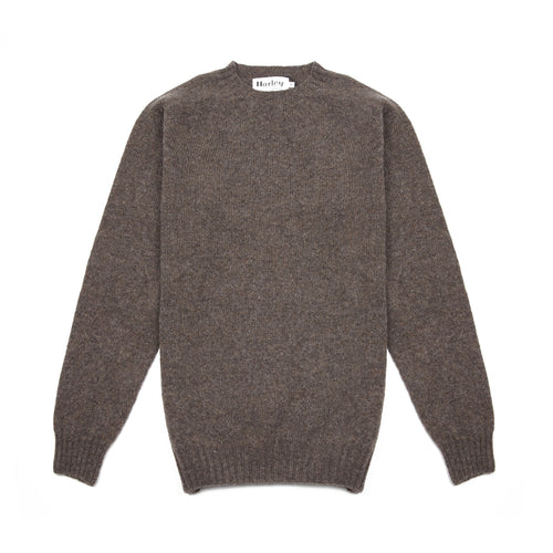 Harley Crew-Neck Supersoft Shetland Jumper in Elephant