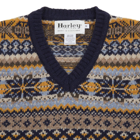 Harley Fair Isle Slipover in New Navy