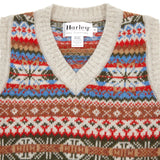 Harley Supersoft Shetland Fair Isle Slipover in Putty