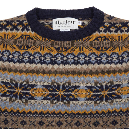 Harley Fair Isle Jumper in New Navy